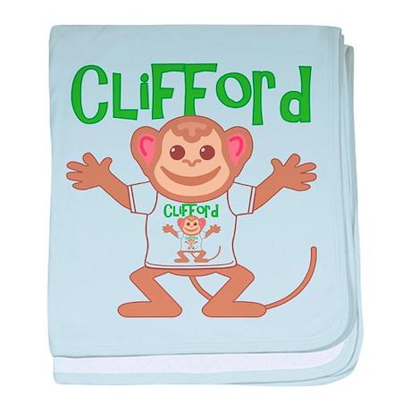 Little Monkey Clifford baby blanket