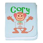 Little Monkey Cory baby blanket