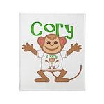 Little Monkey Cory Throw Blanket