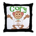 Little Monkey Cory Throw Pillow