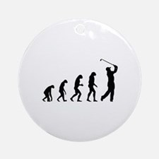 Evolution golf Ornament (Round)