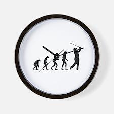Evolution golf Wall Clock