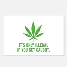 It's only illegal if ... Postcards (Package of 8)