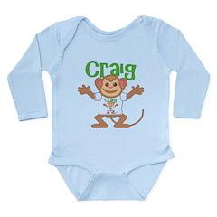 Little Monkey Craig Long Sleeve Infant Bodysuit