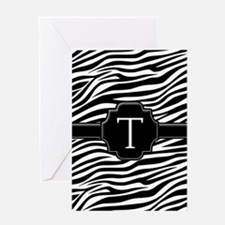 Monogram Letter T Gifts Greeting Card