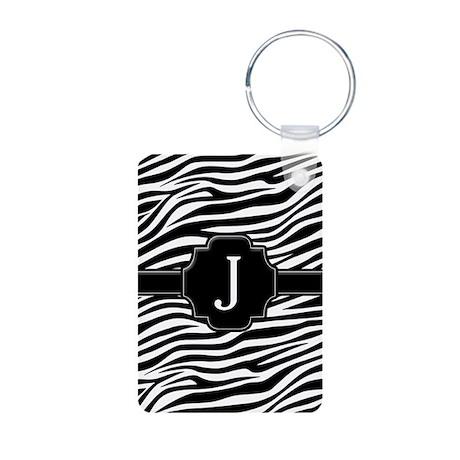 Monogram Letter J Gifts Aluminum Photo Keychain