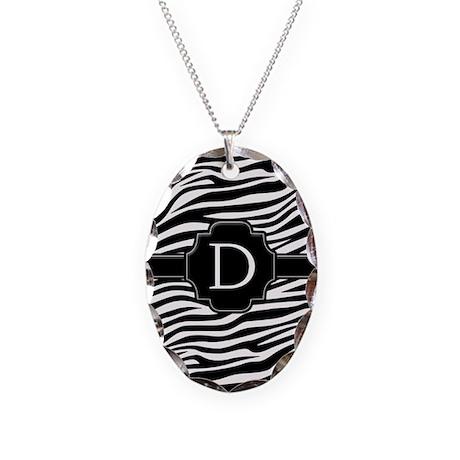 Monogram Letter D Necklace Oval Charm