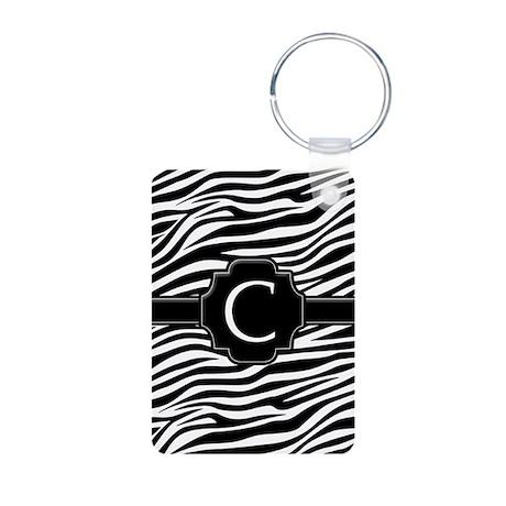 Monogram Letter C Aluminum Photo Keychain