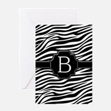 Monogram Letter B Greeting Card