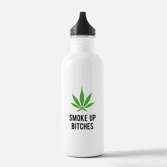 Smoke up bitches Sports Water Bottle