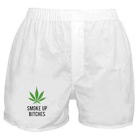 Smoke up bitches Boxer Shorts
