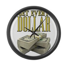 Get Every Dollar Scarface Large Wall Clock