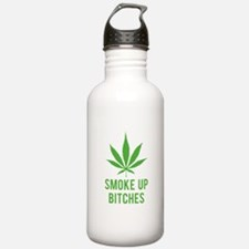 Smoke up bitches Water Bottle