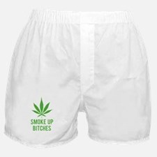 Smoke up bitches Boxer Shorts