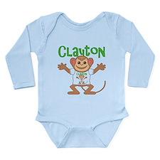Little Monkey Clayton Long Sleeve Infant Bodysuit