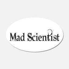Mad Scientist 22x14 Oval Wall Peel