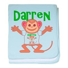 Little Monkey Darren baby blanket