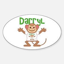 Little Monkey Darryl Sticker (Oval)