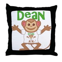 Little Monkey Dean Throw Pillow