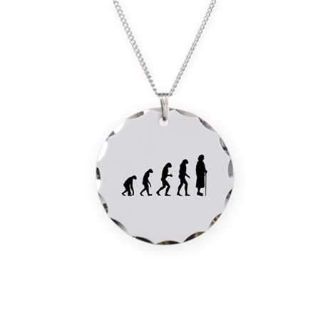 Evolution senior Necklace Circle Charm