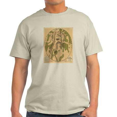Gettyburg Map Ash Grey T-Shirt