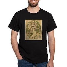 Gettyburg Map Black T-Shirt