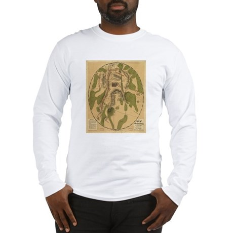 Gettyburg Map Long Sleeve T-Shirt