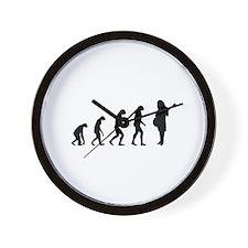 Evolution guitar player Wall Clock