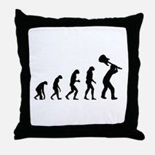 Evolution rock Throw Pillow