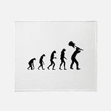 Evolution rock Throw Blanket