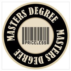 Masters Degree Priceless Bar Code Canvas Art