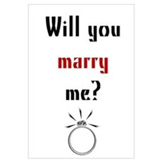 Will You Marry Me? Surprise Canvas Art