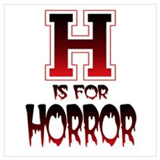 H is for Horror Poster