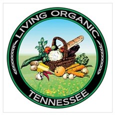 Living Organic Tennessee Poster