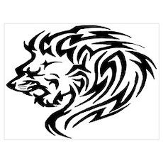 Tribal Lion III Poster