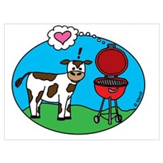 Cow Meets Grill Poster