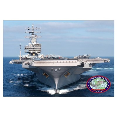 USS Ronald Reagan CVN-76 Canvas Art