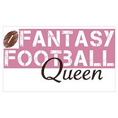 Fantasy Football Queen Poster