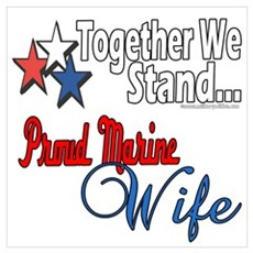 Proud Marine Wife Poster