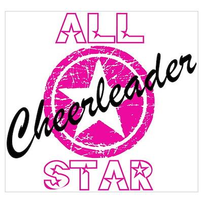 All Star Cheerleader Pink Poster