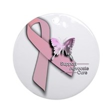 Breast Cancer - Ornament (Round)
