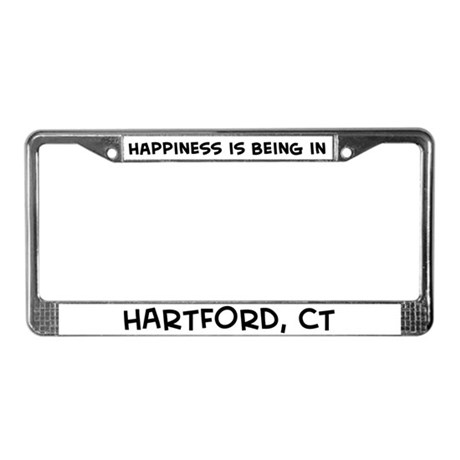 Happiness is Hartford License Plate Frame