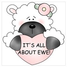 IT'S ALL ABOUT EWE! Framed Print