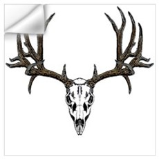 European mount mule deer Wall Decal