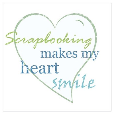 Scrapbooking makes my heart smile Canvas Art