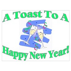 New Year's Toast Poster