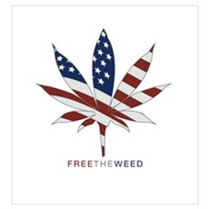 free the weed Framed Print