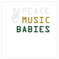 Peace Music Babies Framed Print