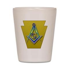 Masonic Keystone Shot Glass