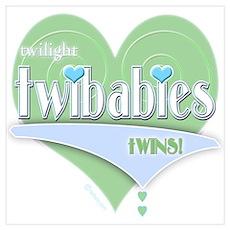 Twilight Twibabies Twins! Green Poster